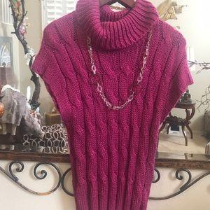 Ana sleeveless cowl neck sweater